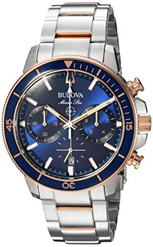 Bulova Men's Quartz Stainless Steel Dress Watch, Color:Silver-Toned (Model: 98B301)