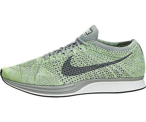 Nike Men's Lunarepic Low Flyknit Running Shoes (10 M US, White/Cool Grey/Green)