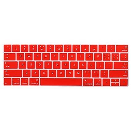 eDealMax portátil de silicona teclado de ordenador del Protector de la piel cubierta roja Para MacBook