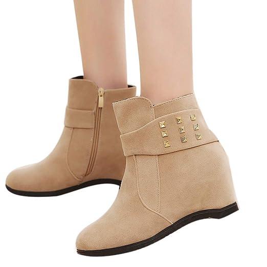 ❤ Botas de cuña para Mujer, Botas de tacón con cuña de Plataforma Zapatos para Mujer Plataforma Aumentada Botas de Moda Absolute: Amazon.es: Ropa y ...