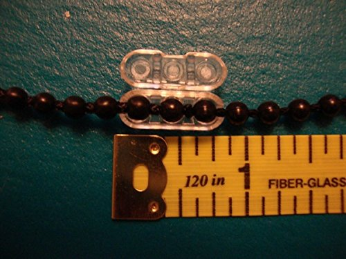 (Ship from USA) QTY: Rollease Clear Plastic Chain Connector for #10 or #6 Beaded Chain by Rollease