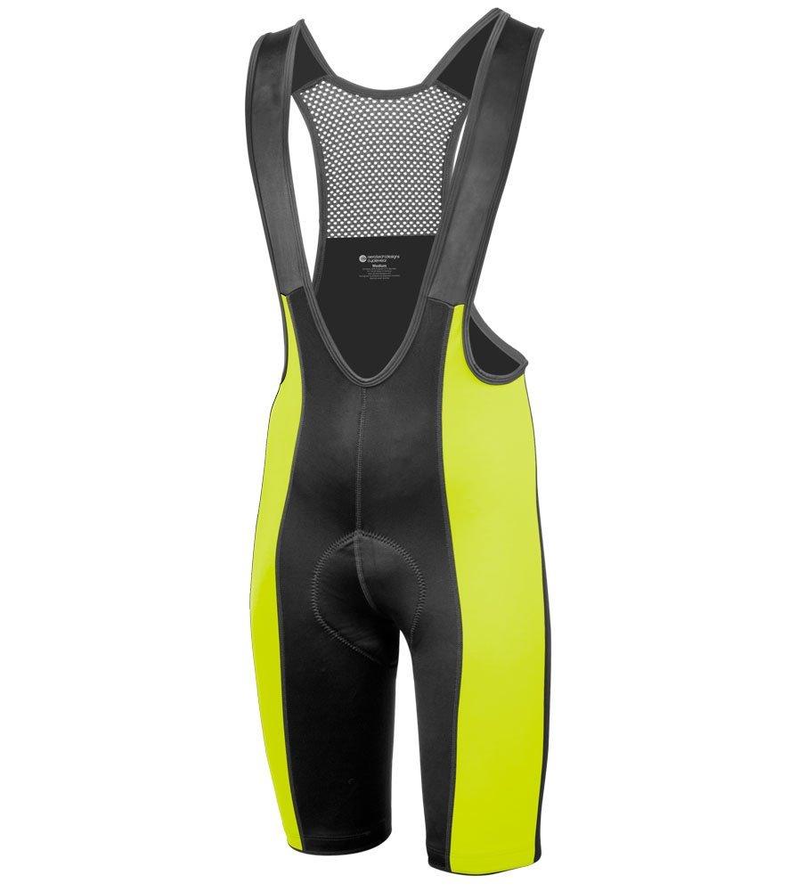 AERO|TECH|DESIGNS Big Men's Top Shelf Padded Cycling Bib Shorts - Made in The USA (Safety Yellow, 4XL) by AERO|TECH|DESIGNS