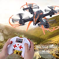 Dwi Dowellin RC Drones Quadcopter 2.4Ghz 4 Channels 6-axis Gyro Professional Drone Helicopter X15S Black
