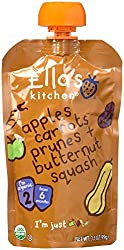 Ella's Kitchen Organic Stage 2 Super Smooth Puree, Apples/Carrot/Prunes/Butternut, 4 Count