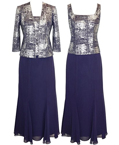 alex evenings rhinestone trim dress - 7