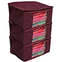 Kuber Industries Non Woven Saree Cover Set