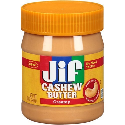 Jif Cashew Butter - Creamy - Net Wt. 12 OZ (340 g) - Pack of 4 Plastic Jars by (12 Oz 340g Jar)
