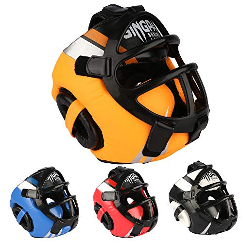 Headgear for Boxing, MMA Training, Head Gear Protection Guard with Removable Face Grill, Helmet for Muay Thai, Grappling…