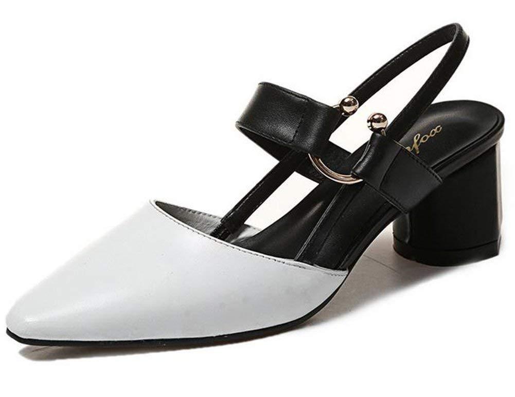 Oudan Baotou Sandalen. (Farbe   Weiß, Größe   37)