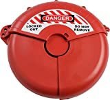Brady Collapsible Gate Valve Lockout Device - Compatible with Gate Valves 7-13'' in Diameter - Red - 148647