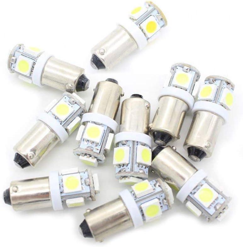 BoomBoost10 pcs 5SMD 5050 LED T11 BA9S Blanco T4W 182 1445 H6W 53 Cuña luz del Coche Indicadores de Coche Bombilla Lámpara de cuña