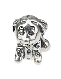 Beads Hunter 925 Sterling Silver Charms Bead Owl Micky Mouse Puppy Spotted Dog Frog Fit European Bracelet Snake Chain
