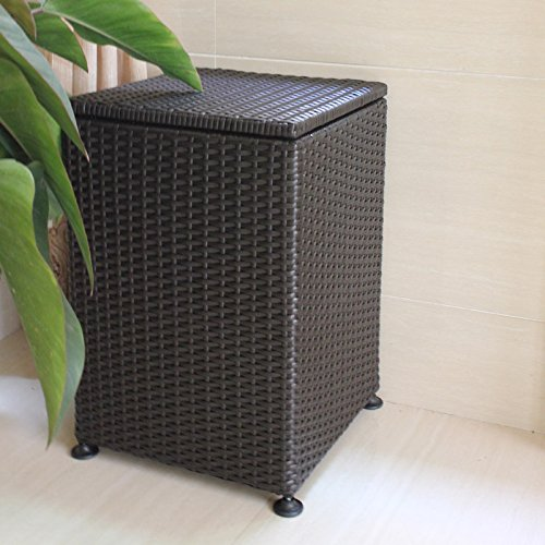 YZL/ Square covered laundry/laundry basket/Wicker storage basket hamper/basket of dirty clothes storage/storage box by KAIMENDAJI