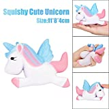 11cm Kawaii Unicorn Squishy Slow Rising Cartoon Doll Cream Scented Squeeze Decompression Toys Kids' Furniture Décor Storage Soft Educational Baby Toddler Arts Crafts Father's Day Birthday Gift