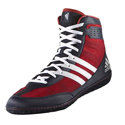 Adidas Mat Wizard 3 Shoes Men's Senior Wrestling Boots Scarlet Coll Navy (7 UK, Navy/Red)