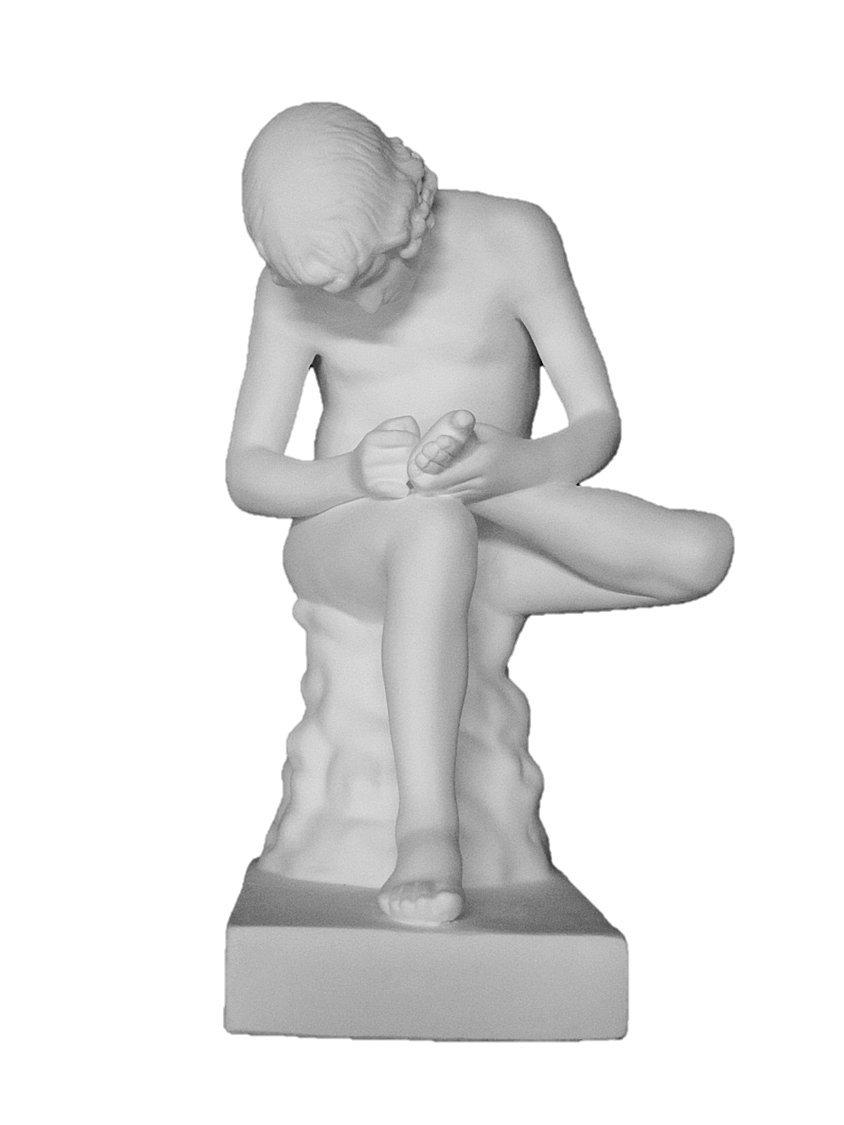 石膏像 N-034 とげぬき童子全身像(小) H.35cm B008HQUCVG