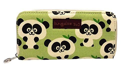 Bungalow360 Zip Around Wallet - Panda - Panda Checkbook Cover