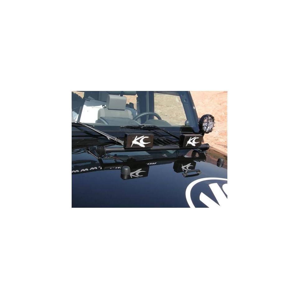 KC Hilites 7409 Jeep Wrangler Hood Mounted Light Bar   TJ / LJ / JK   Light Bar