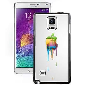 Fashion DIY Custom Designed Samsung Galaxy Note 4 N910A N910T N910P N910V N910R4 Phone Case For Paint Splash Apple Logo Phone Case Cover