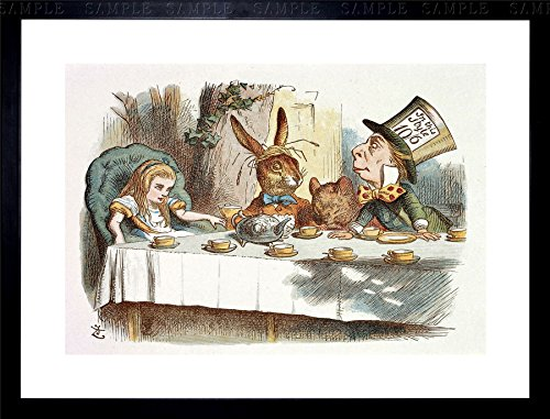 Wee Blue Coo Painting Book Carrol Alice Wonderland TENNIEL MAD Hatter Framed Print F97X10457 ()