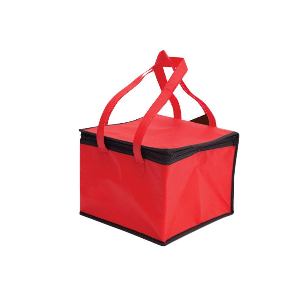 Cosanter Pranzo Borsa Termico Isolata, Borsa Di Stoccaggio Per Picnic Portatile Lunch Box, Adatto Per Studenti, 20 * 20 * 15cm(Rosso)