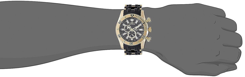 Invicta herren armbanduhr xl chronograph quarz kautschuk 6983