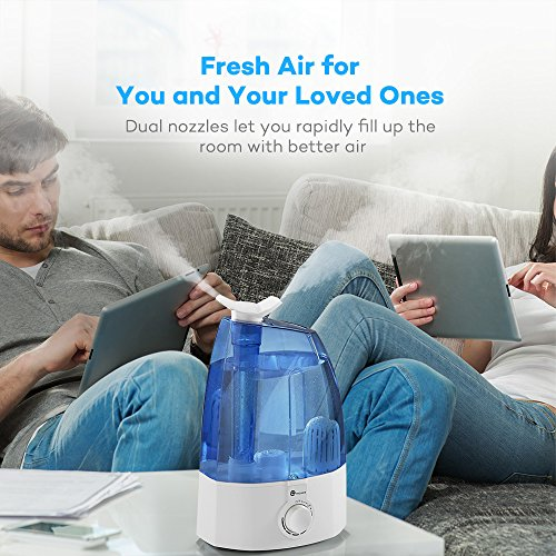 Cool-Mist-Humidifier-TaoTronics-Ultrasonic-Humidifiers-for-Bedroom-with-35L095-gallon-Large-Capacity-Classic-Dial-Knob-Control-and-Two-360-Rotatable-Mist-Outlets-US-Plug-120V