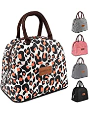 DANIA & DEAN Durable Insulated Lunch Bag for Women/Kids Double Zippers Wide Open Tote Bag Leakproof Thermal and Cooler Reusable Lunch Box for Office/School/Outdoor