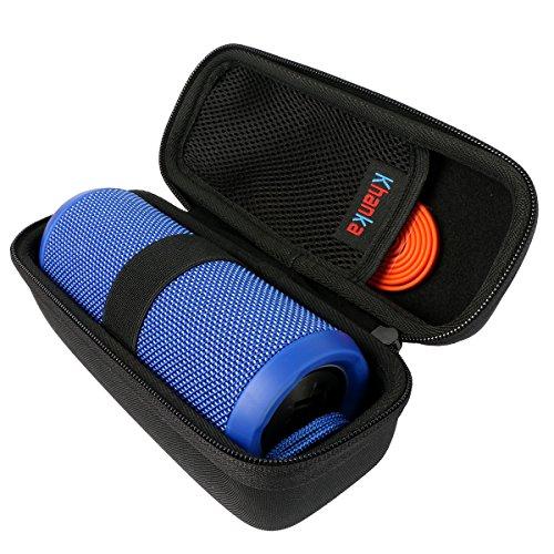 Khanka for JBL Flip 4 Waterproof Flip 3 Splashproof Portable Bluetooth Speaker Porterble Case (Black)