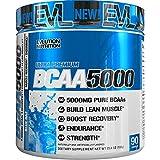 Evlution Nutrition BCAA5000 Powder 5 Grams of Premium BCAAs (Blue Raz, 90 Servings)