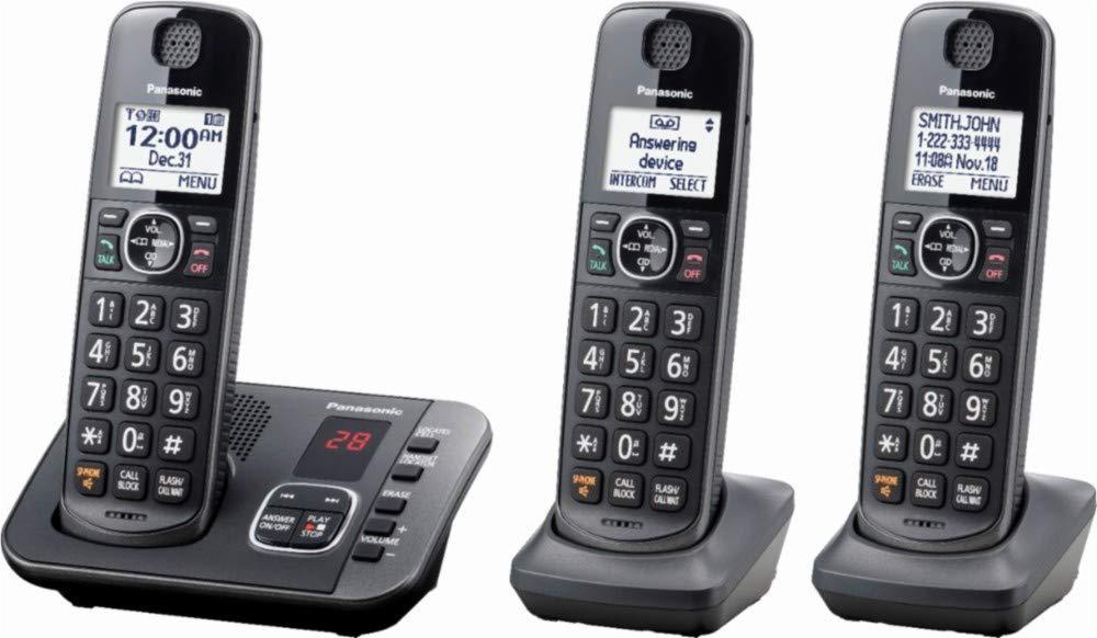 Panasonic - KX-TGE633M DECT 6.0 Expandable Cordless Phone System Digital Answering System - Metallic Black by Panasonic (Image #2)