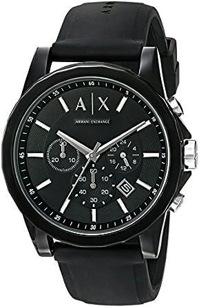 amazon com armani exchange men s ax1326 black silicone watch watches a x armani exchange active watch
