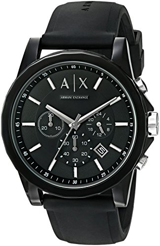 Armani Exchange AX1326 Black Silicone product image