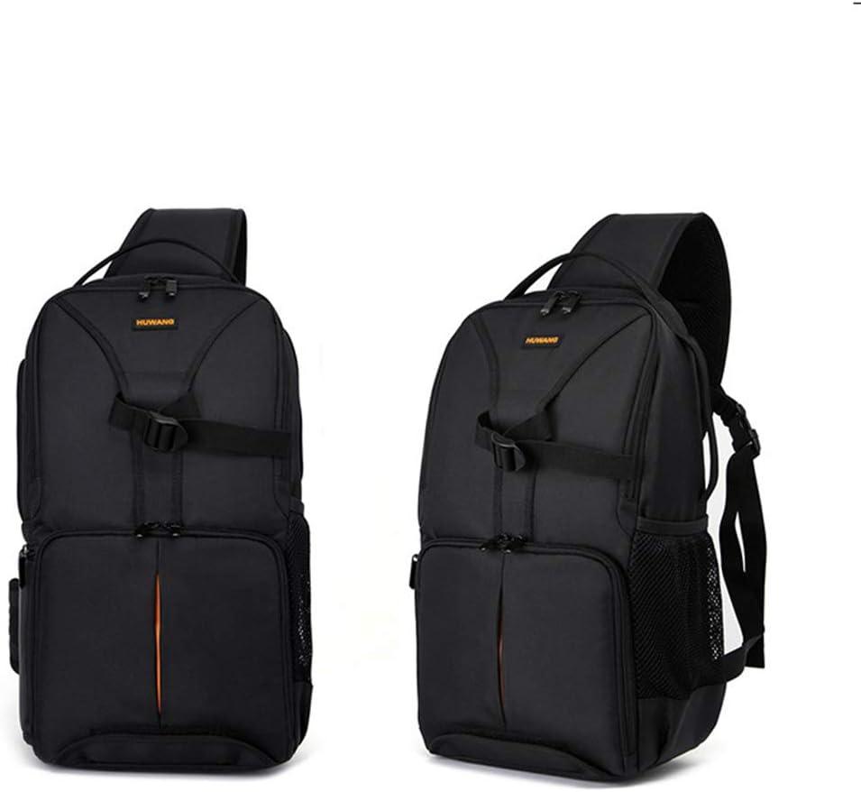 Hexiaoyi SLR Camera Bag Shoulder Outdoor Diagonal Digital Package Camera Bag Color : Black with Orange