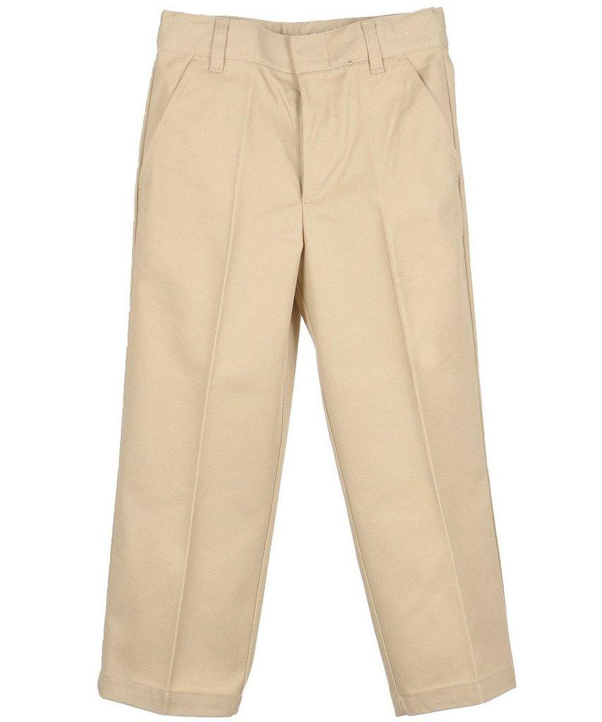 Genuine Boys Flat Front Twill Pants, Khaki, 07