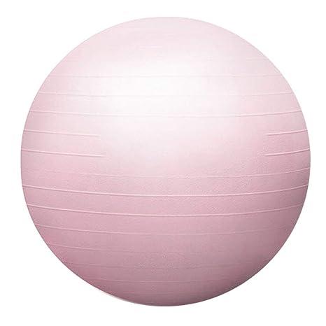 Yoga Ball Embarazo Ejercicio Ejercicio Anti-Ráfaga Ejercicio Ball Office Gimnasio en casa Disponible en tres tamaños 55/65 / 75cm (Color : Light pink ...