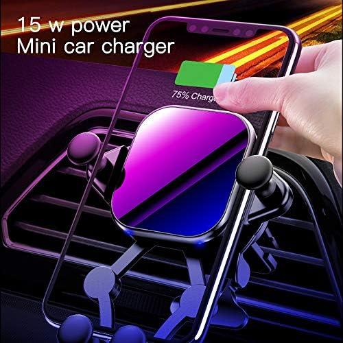 IPhone 11/11プロ/プロマックス/XS MAX/XS/XR/X / 8 /サムスン注10 / S10 / S9 / S8 / S7との互換性、高速オートクランプ電話ホルダーを充電ワイヤレス車の充電器マウント、15Wチー、