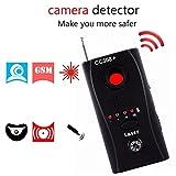 Wireless Lens Detector for Anti Spy Hidden Camera, Adjustable Detection Sensitivity Signal Bug RF Finder, GSM Voice Device Laser Detector