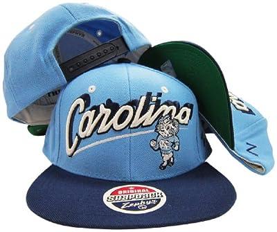 North Carolina Tar Heels Light Blue/Navy Two Tone Plastic Snapback Adjustable Plastic Snap Back Hat / Cap
