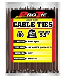 Pro Tie BR5LD100 5.5-Inch Brown Light Duty Color Cable Tie, Brown Nylon, 100-Pack