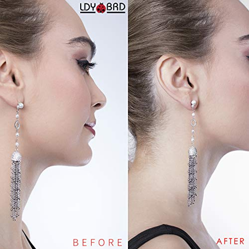 Earring Lifters .925 Sterling Silver 3 Pairs - Happy Ending for Sagging Earrings & Easy to Use! Adjustable & Hypoallergenic Earring Backs Support, Compatible with All Standart Earring Post!