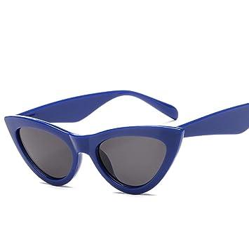 Shihuam Gafas Rojas Cat Luxury E Gafas de Sol para Mujer ...