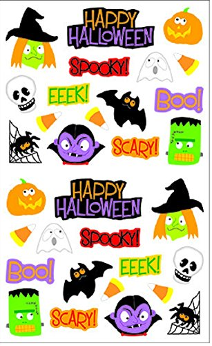 (Mrs. Grossman's Halloween Stickers, Set C - Bats, Spiders, Ghosts, Mummies & More)