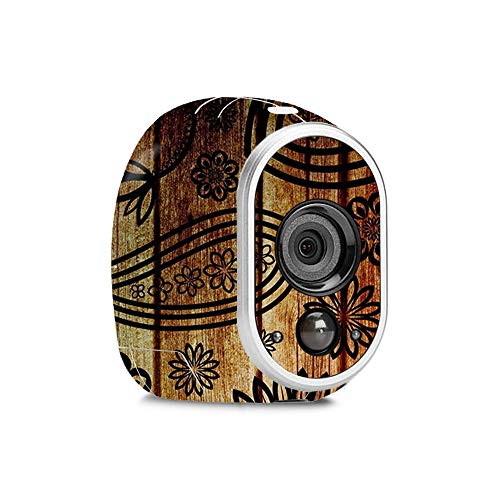 MightySkins Skin for Netgear Arlo - Wooden Floral | Protective, Durable, and Unique Vinyl Decal wrap Cover | Easy to Apply, Remove, and Change Styles | Made in The USA