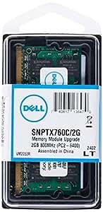 Dell - Memory - 2 GB - SO DIMM 200-pin - DDR2 - 800 MHz / PC2-6400 - unbuffered - non-ECC