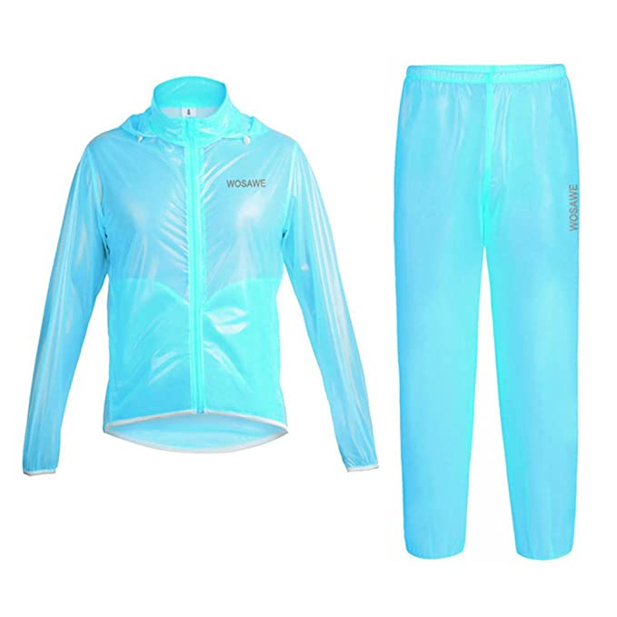LSKCSH Unisex-Adulto Ciclismo Impermeable Traje Impermeable ...