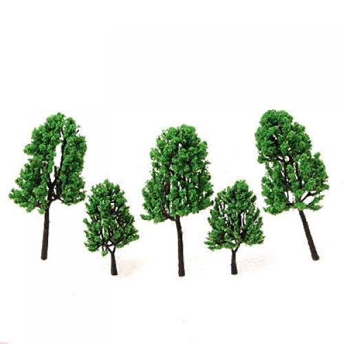 16Pcs Model Pine Tree Train Set Scenery HO Scale Generic