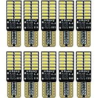 2Pzs Focos LED T10 W5W 2825 Pellizco 24 SMD para Auto (Blanco)