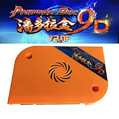 Tongmisi 2500 in 1 Pandora Box 9D Arcade Game PCB with Jamma Harness HDMI / VGA Output Full HD 720P for Arcade Machine Cabinet Support 4 Players: Toys & Games