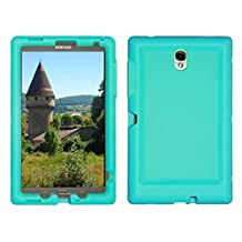 Bobj Rugged Case for Samsung Galaxy Tab S 8.4 Tablet Models SM-T700 (WiFi), SM-T705 (3G, 4G/LTE & WiFi) - BobjGear Protective Cover - (Terrific Turquoise)